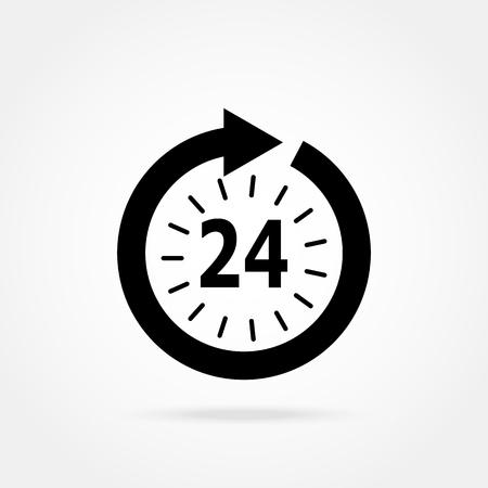 clock: opening hours icon Illustration