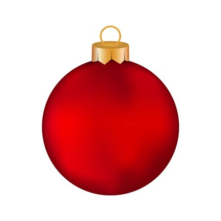 christmas red: Christmas red Christmas ball on a white background