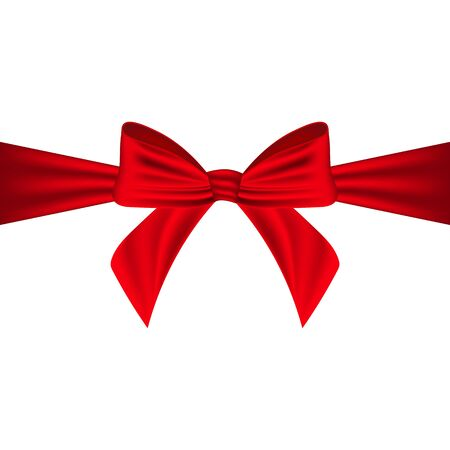 claret: Red bow on a white background