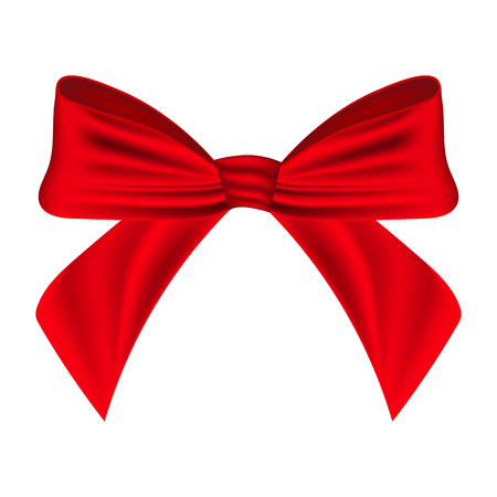 red bow: Red bow on a white background