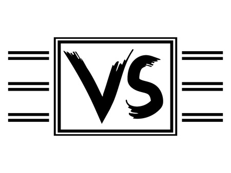 Symbol VS competitors against each other Illustration