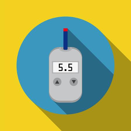 blood sugar: meter device for measuring and monitoring blood sugar levels Illustration