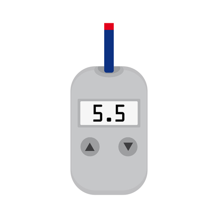 diagnosing: meter device for measuring and monitoring blood sugar levels Illustration