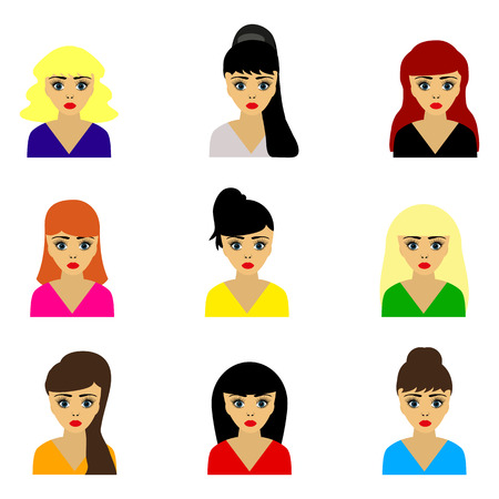 hairstyle: woman selection of hairstyles