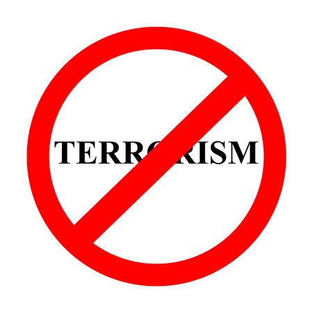 sign prohibiting terrorism