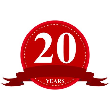 medal ribbon: medal ribbon anniversary of 20 years