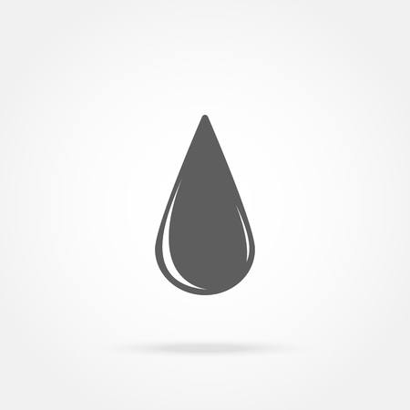 lubricant: Icon drop of oil on a white background with shadow Illustration