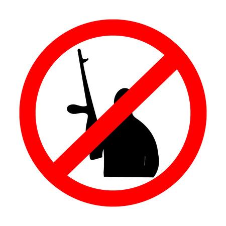 prohibiting: sign prohibiting terrorism