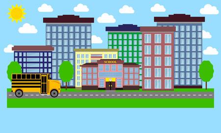 urban landscape: Urban Landscape flat design Illustration