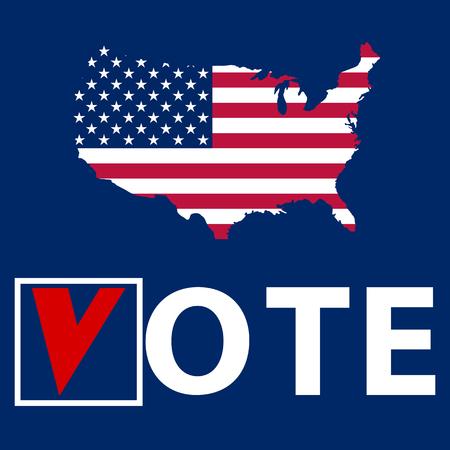 Amerikaanse Verkiezingen Amerikaanse vlag met sterren vector illustratie Vector Illustratie