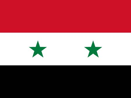 federal election: Official national flag of Syria vector illustration