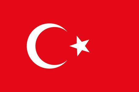 federal election: Official national flag of Turkey vector illustration Illustration