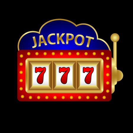 jackpot op een gokautomaat vector illustratie