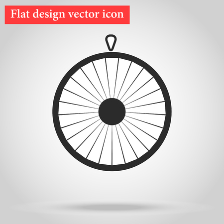 wheel of fortune: Wheel of fortune circle icon flat.illustration