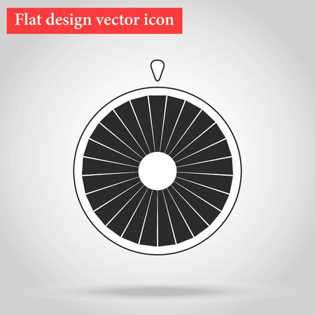 wheel of fortune: Flat design vector Wheel of fortune icon with shadow vector