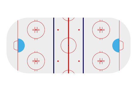 arena: Template realistic hockey arena with lines and gates. vector illustration Illustration