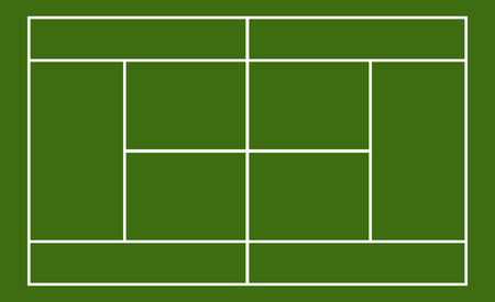 sports field: Template realistic tennis court with lines . vector illustration