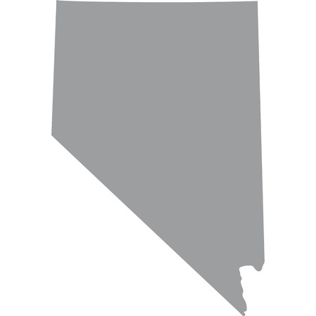 federated: map of the U.S. state of Nevada Illustration
