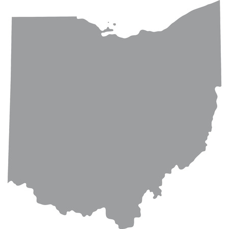 map of the U.S. state of Ohio Illustration