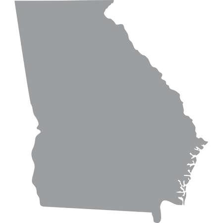 map of the U.S. state of Georgia