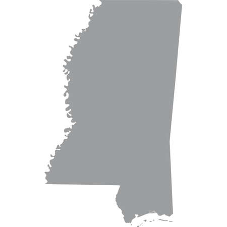 map of the U.S. state of Mississippi Illustration