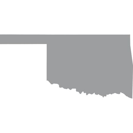 oklahoma: map of the U.S. state of Oklahoma