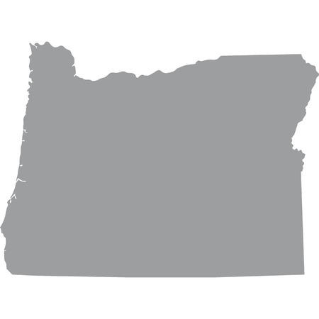 federated: map of the U.S. state of Oregon