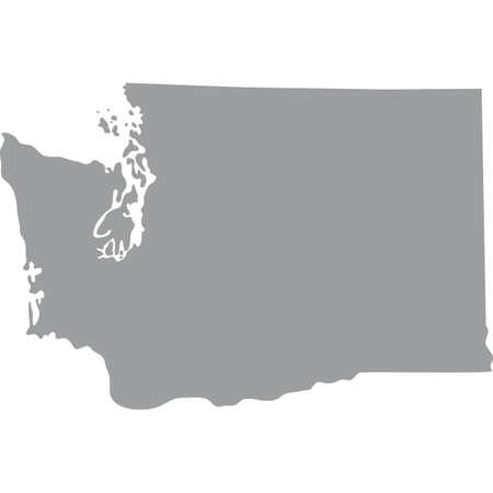 map of the U.S. state of Washington Illustration