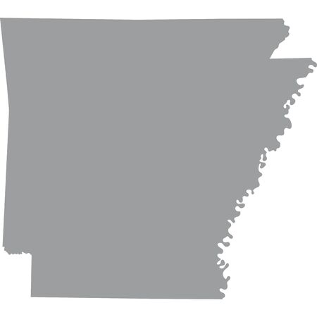 map of the U.S. state of Arkansas Illustration