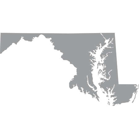 map of the U.S. state of Maryland Illustration