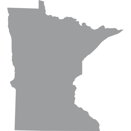 federated: map of the U.S. state of Minnesota