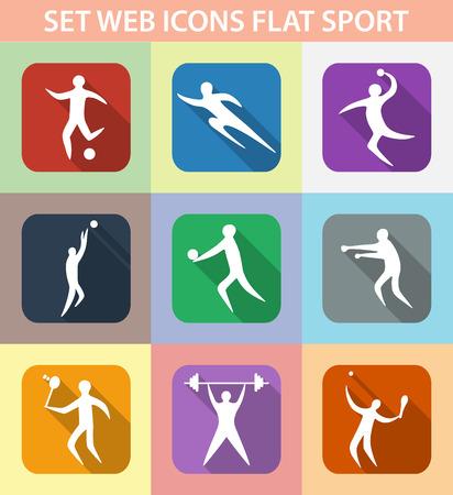 Set of sports games. Athletes involved in sports. flat design. Illustration