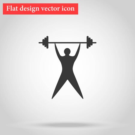 crossbar: Young man athlete raises the bar. silhouette of sportsmen flat. vector illustration Illustration