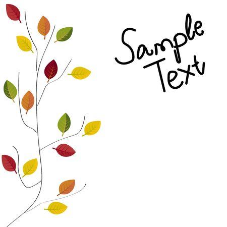 Abstract illustration of autumn vector illustration autumn Illustration