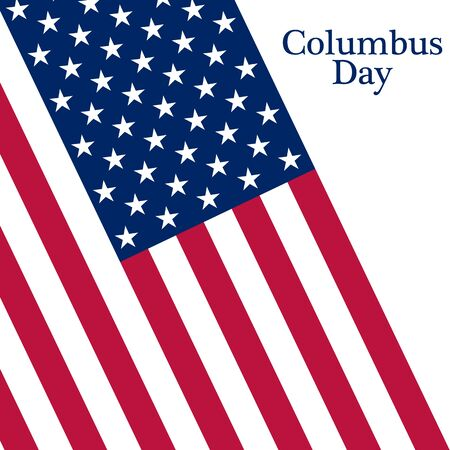 navigator: Holiday in the US Columbus Day Poster with the flag of America