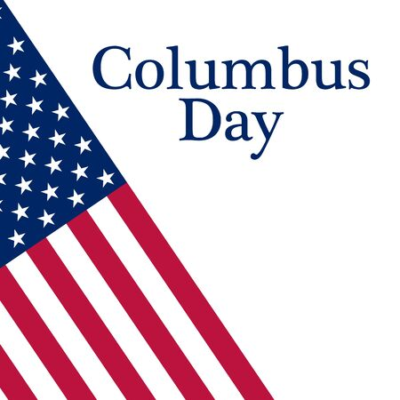 colombo: Holiday in the US Columbus Day Poster with the flag of America