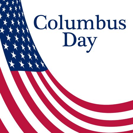 columb: Holiday in the US Columbus Day Poster with the flag of America