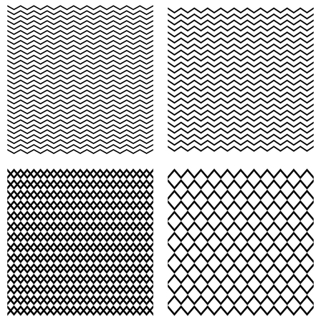 repeated: Collection seamless monochrome geometric triangular patterns. vector illustration elements for design