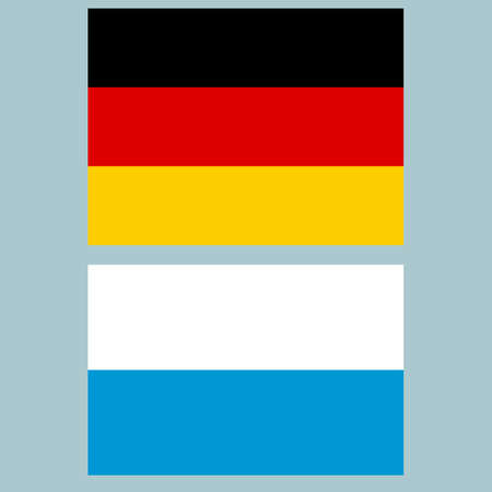 bavaria: Official national flag of Germany and Bavaria background closeup