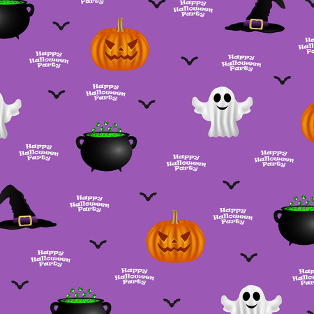 patti: Halloween pattern on a purple background, background design for a party