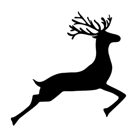 dignified: Reindeer isolated on white background  vector illustration