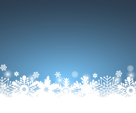 flakes: Christmas blue background, with snowflakes vector illustration