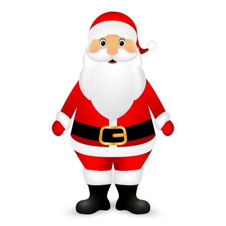 grandfather frost: Santa Claus standing on a white background, vector illustration