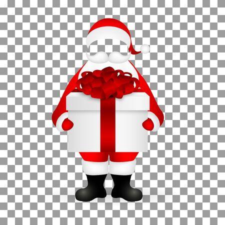 Template Santa Claus to insert a human face vector