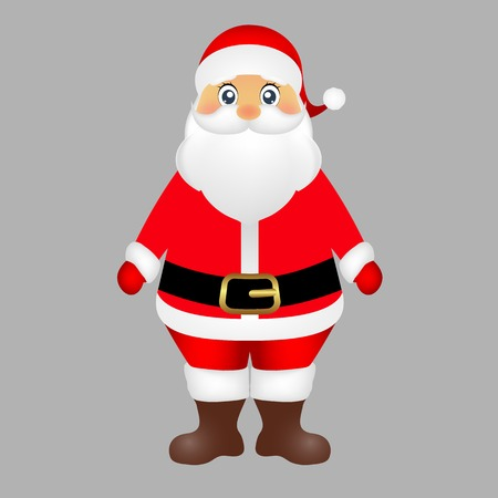 watch new year: Santa Claus on white background vector illustration Illustration