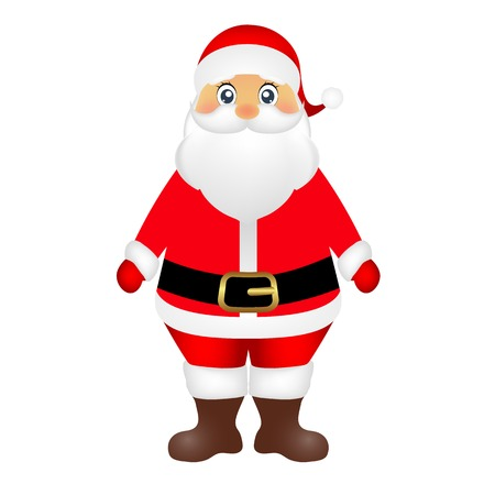 Santa Claus on white background vector illustration Illustration