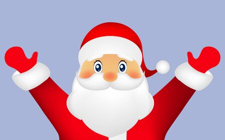 Santa Claus on a white background, vector illustration Illustration