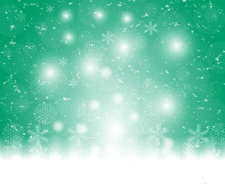 Christmas blue background, with snowflakes vector illustration