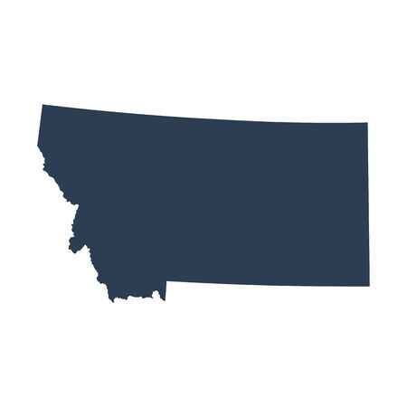 map of the U.S. state  Montana