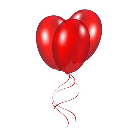 inflatable ball: Red festive balloons Illustration
